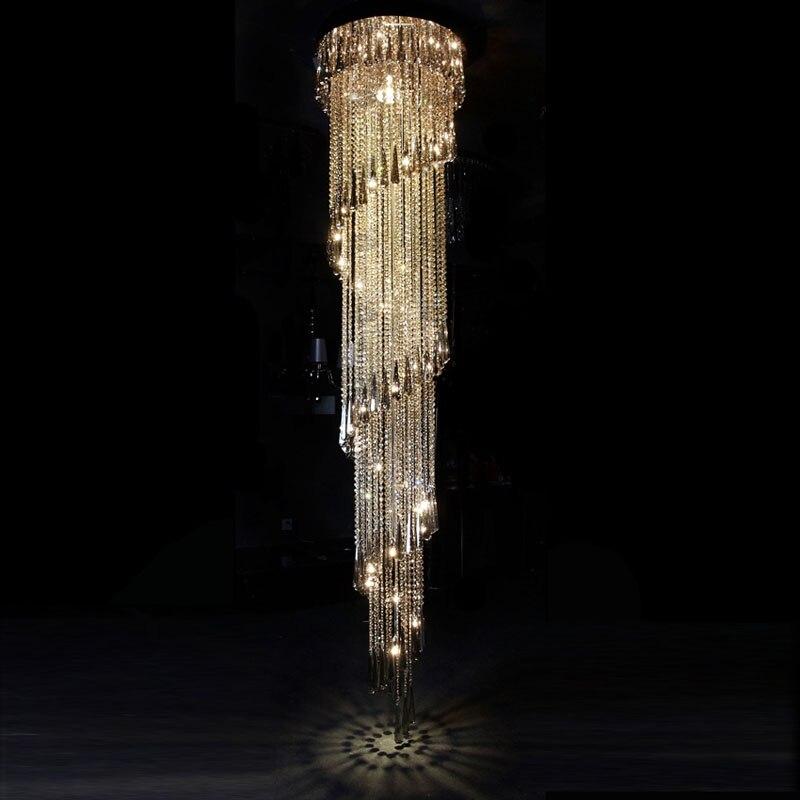 aliexpress koop t luxe kristal hanglamp draaiende trappen