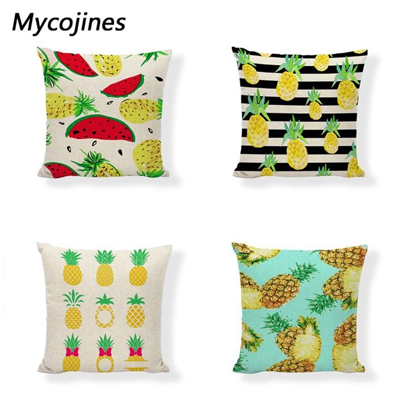 >Pineapple Throw Cushion Covers Geometric Black And White Stripes Home Decor <font><b>Farmhouse</b></font> Happy Camper Gold Printed <font><b>Gift</b></font> <font><b>Pillows</b></font> Cas
