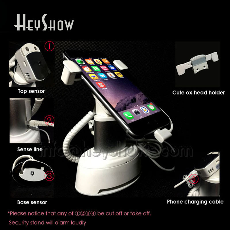 Mobile Phone Stand Alarm Cellphone Security Display Holder Smartphone Anti Theft Tablet Stand Clamp For Apple Andriod Type C 360 degree rotate mobile phone security alarm stand tablet display holder cellphone pad burglar alarm retail anti theft mount