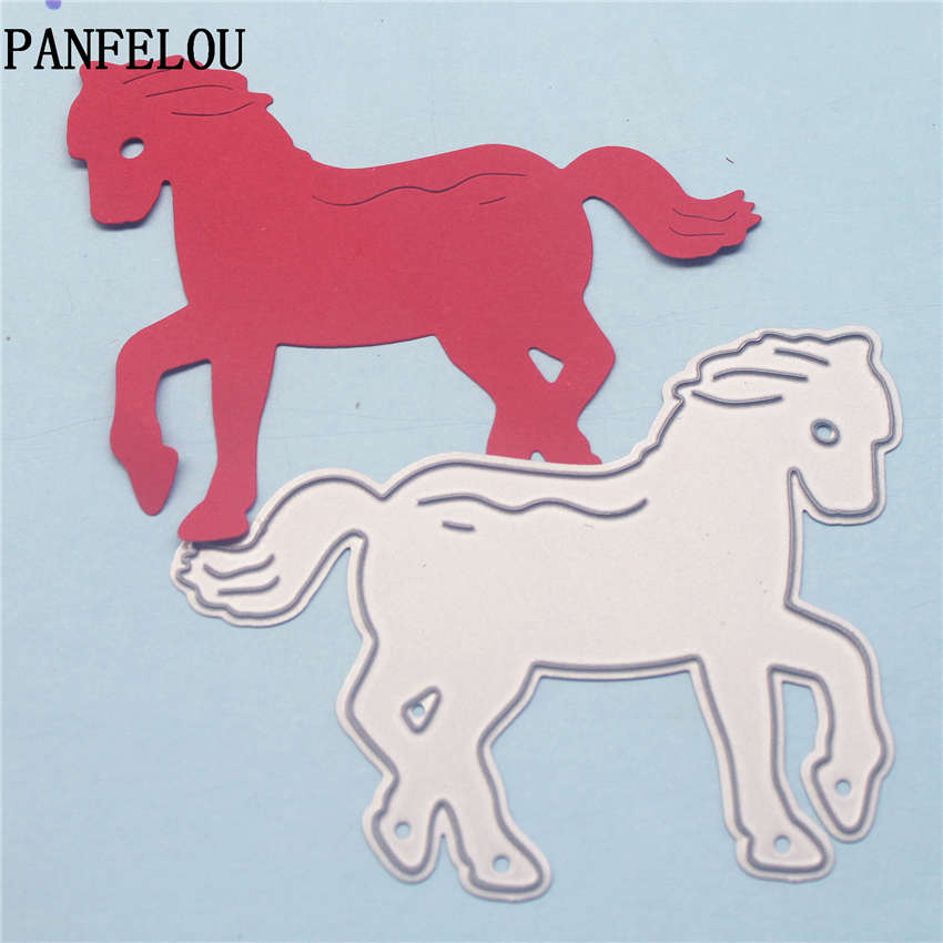 PANFELOU Young horse metal crafts paper die cutting dies for Scrapbooking/DIY wedding Halloween Hand account cards