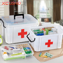 Extra Large Household Double Layer Storage Organizer First Aid Kit Multifunctional Medicine Box Sundries Storage Boxes & Bins(China)