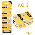 +Free Shipping+ +Hot Selling+ 10 Pieces AG3 LR41 392 SR41 192 LR736 Button Coin Cell Alkaline Battery 1.55V 20
