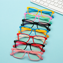 Новинка 2020, мягкие силиконовые очки для маленьких девочек и мальчиков, защита для глаз с защитой от Голубого Луча, детские очки в стеклянной ...