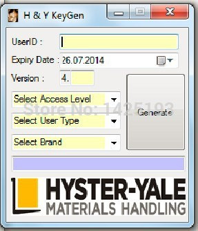 Hyster and Yale PC Services Tool [2014] Keygen 4.XX