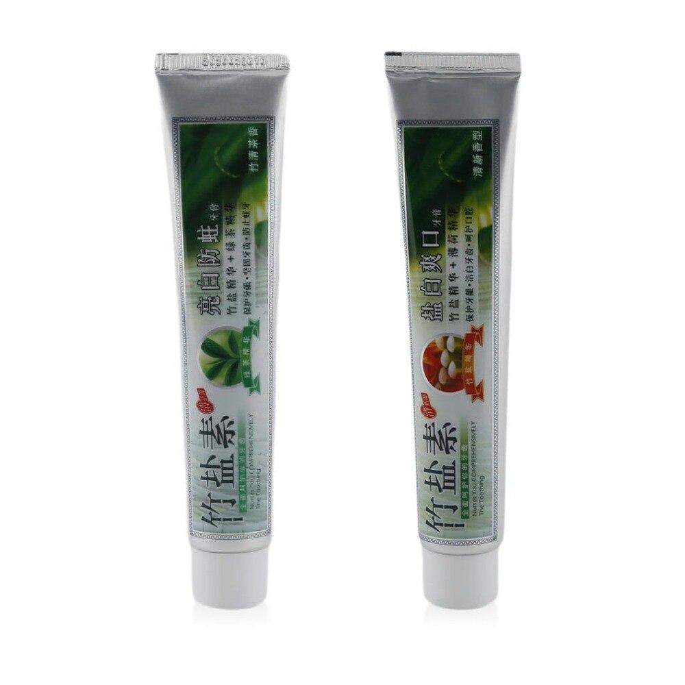 100g De Sal De Bambu Creme Dental Clareador Anti Sangramento Nas