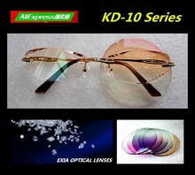 Women Glasses Brown Optical Lenses Tinted HMC High Vision Spectacle Myopia and Presbyopia EXIA OPTICAL KD-10 Series