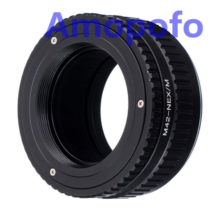 Amopofo M42-NEX / M Adapter M42 Vint Dəstək Lensini SonyE Adapterə - Kamera və foto - Fotoqrafiya 2