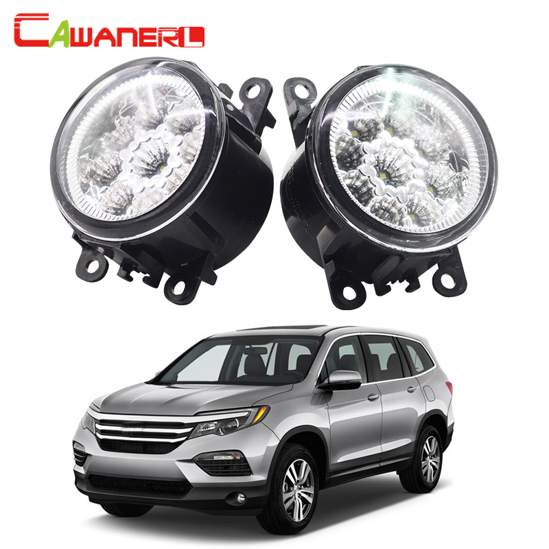 Cawanerl Car Styling LED Lamp Auto Fog Light Daytime Running Lamp DRL Blue White Orange 2 Pieces For Honda Accord CR-V Pilot car styling daytime running light auto fog lamp for b mw e90 3 series led daylight drl