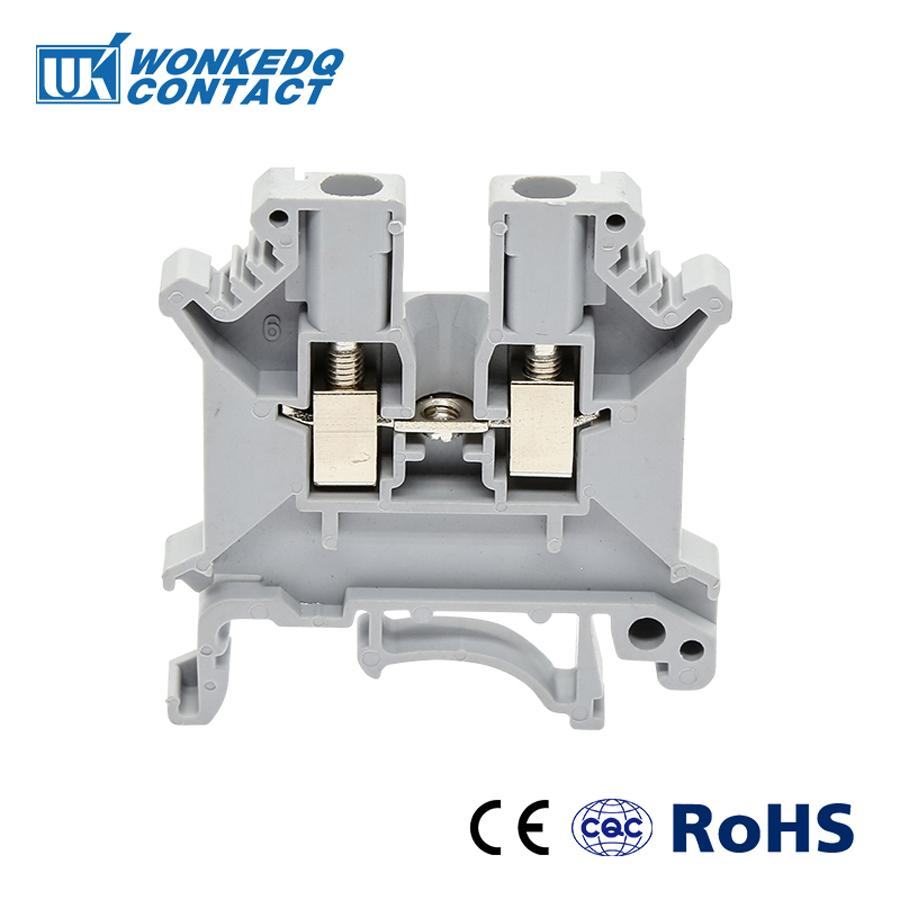 Din Rail Terminal Blocks 10Pcs UK-3N Instead of PHOENIX Connector Universal Class Connector Screw Terminal UK3N 50pcs uk5 twin uk5rd 4mm2 din rail screw clamp fuse terminal blocks connector