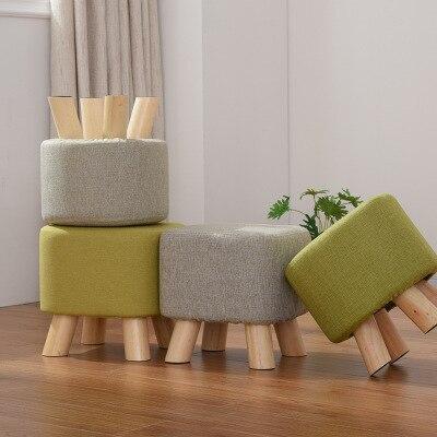 28*28cm Fabric Ottoman sofa stool Soild wood Footstool Mushroom stool28*28cm Fabric Ottoman sofa stool Soild wood Footstool Mushroom stool