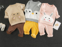 Two piece trousers cotton children's clothing cartoon animal cute rabbit penguin toddler winter clothes
