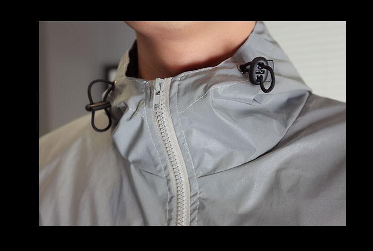 Men jacket casual hiphop windbreaker 3m reflective jacket tide brand men and women lovers sport coat hooded fluorescent clothing (3)