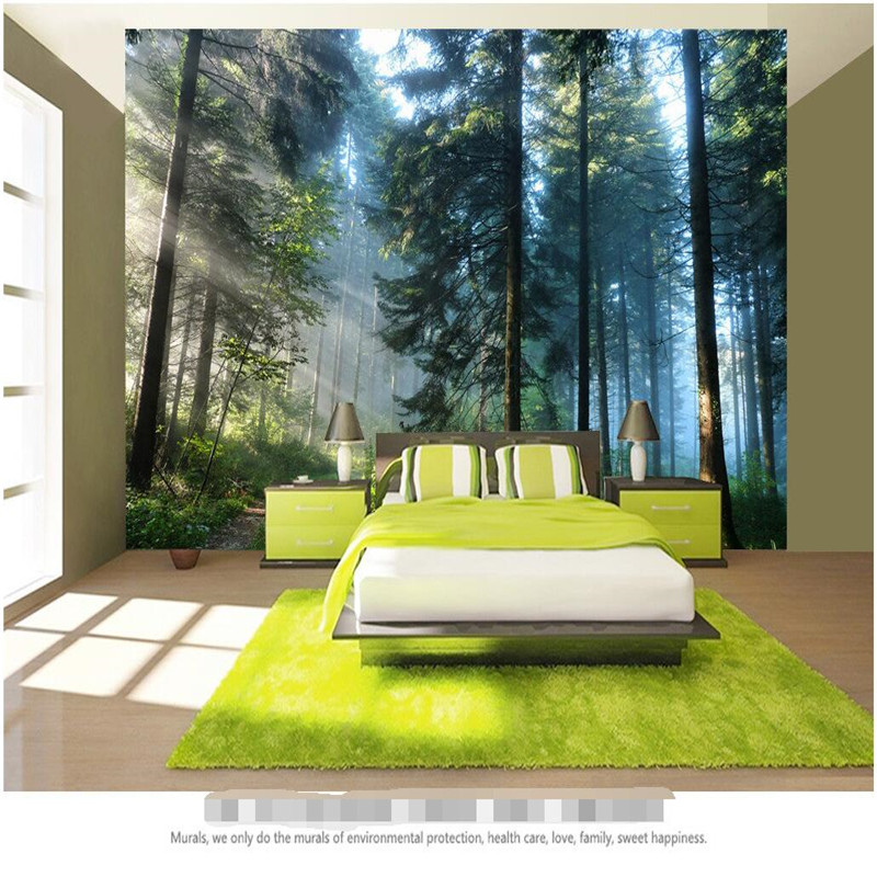 Beibehang Custom Painting Living Room Natural Forest Wall Art Photo Background Photography Bedroom Murals 3d Wallpaper In Wallpapers From Home Improvement