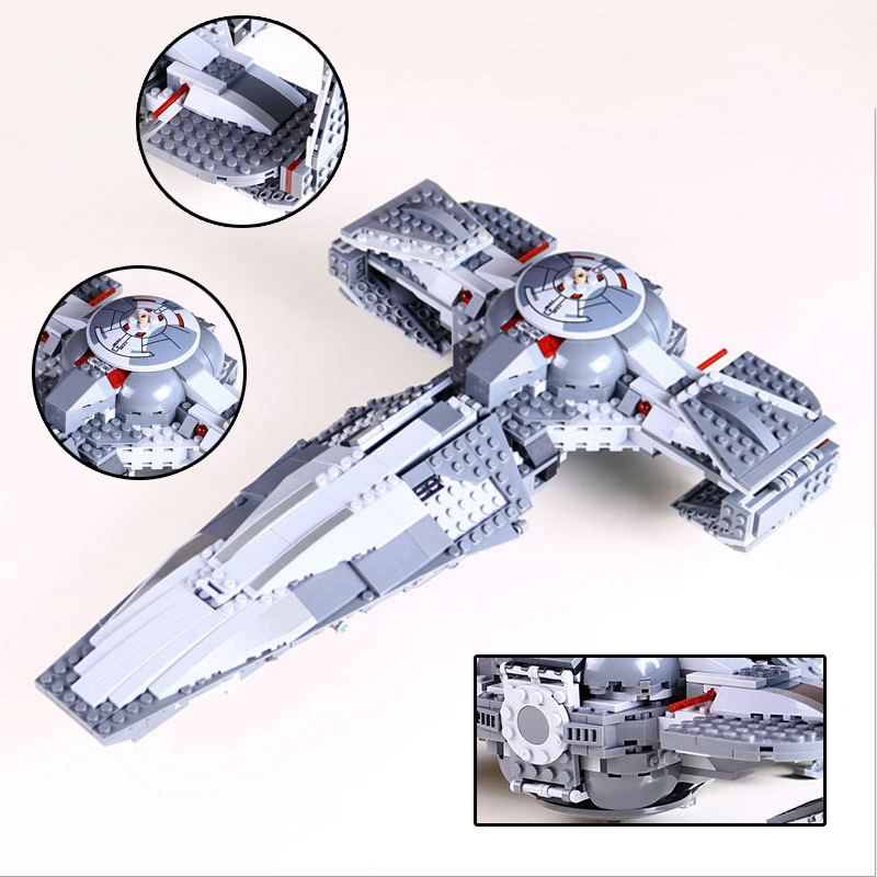 LEPIN 05008 Star Wars The Force Awakens Sith Infiltrator Star Wars Building Block Compatible with Lepin Brick Toy 75096 конструктор lepin star wnrs ситхский корабль разведчик дарта мола 698 дет 05008