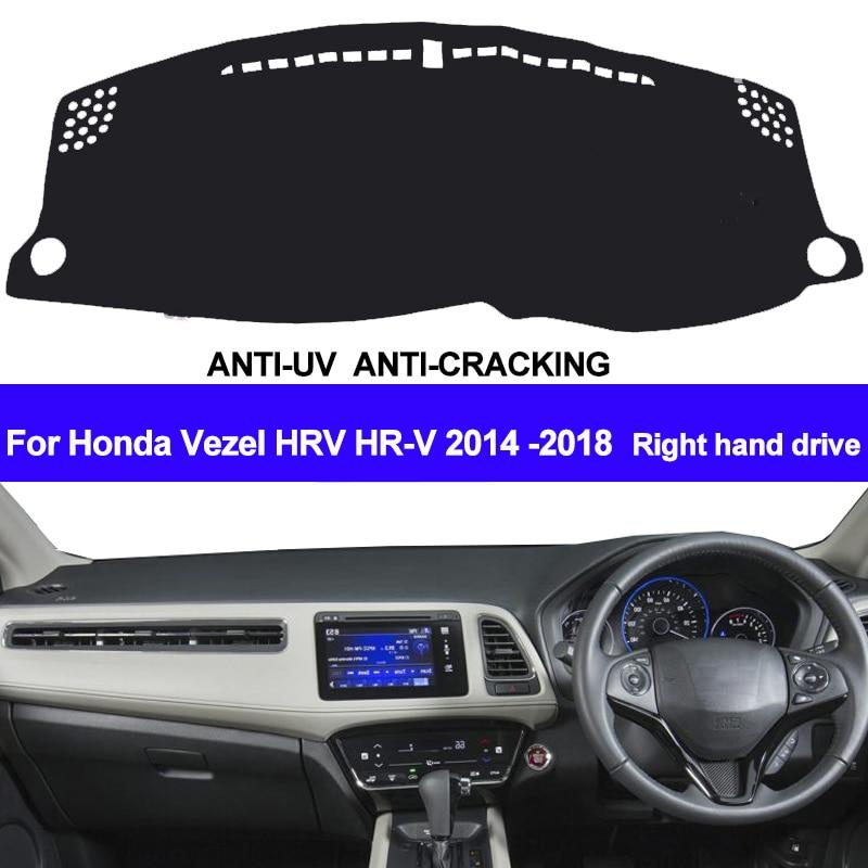 TAIJS Car Dashboard Cover Dash Mat For Honda HRV HR-V Vezel 2014 2015 2016 2017 2018 Auto Non-slip Sun Shade Pad Carpet Dashmat