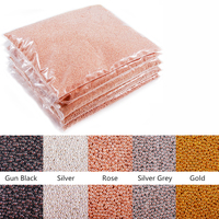 Wholesale Price 1kg/bag Rose Gold Silver Black Metal Mini Steel Ball Caviar Bead 3d Nail Art Charm Decoration Accessoires