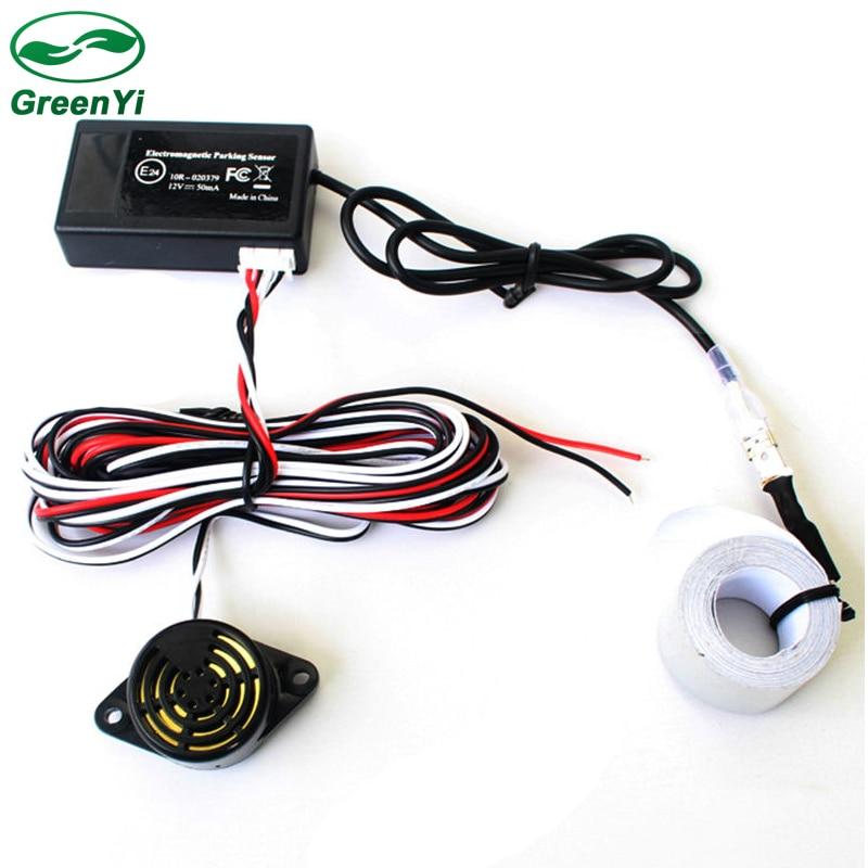 GreenYi 10pcs Auto Electromagnetic Parking Sensor Easy Installation No Drill Hole Car Reverse Backup Sensors Backup