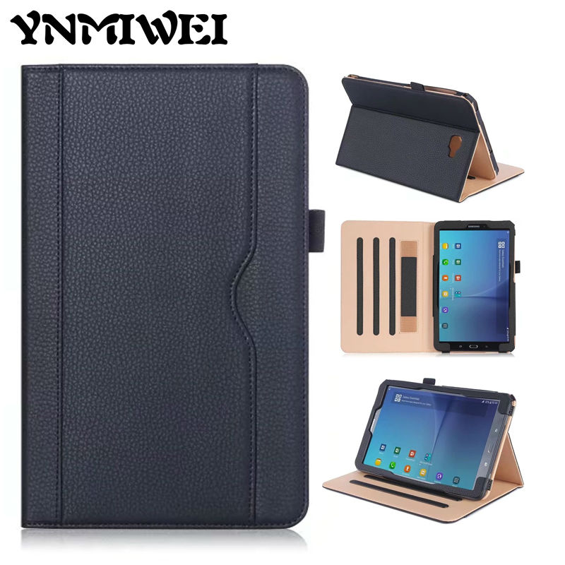 Ynmiwei Leather case For Samsung Galaxy Tab A 10.1 T580 T585 2016 Slim Flip Cover case stand Business SM-T580 Protective Shell luxury flip stand case for samsung galaxy tab 3 10 1 p5200 p5210 p5220 tablet 10 1 inch pu leather protective cover for tab3