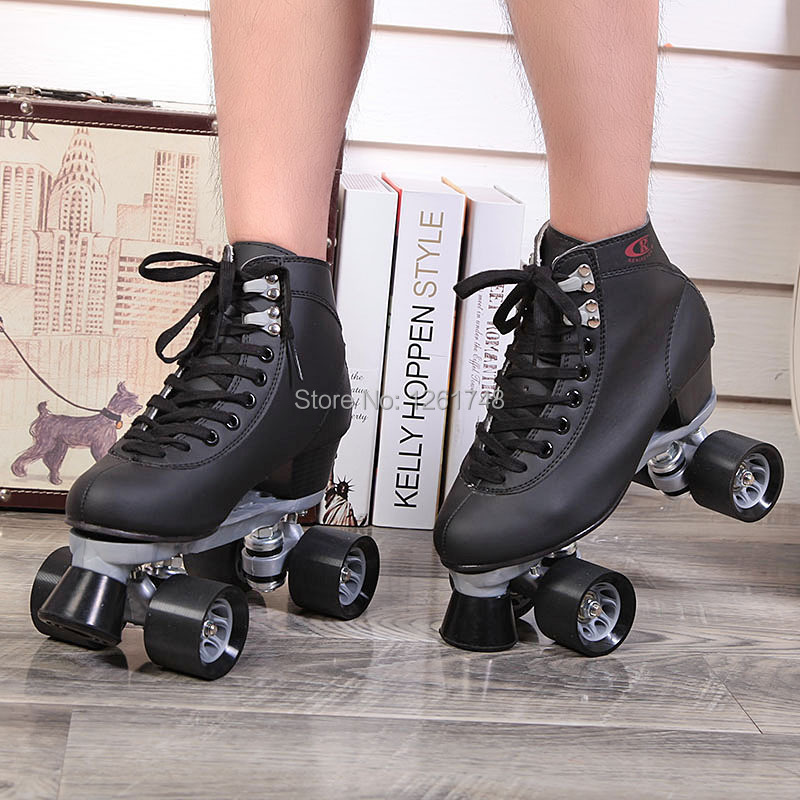 Renee Patins à roulettes Chaussures Double Ligne Patins Adulte Femelle F1 Racing 4 Roues Patins - 2