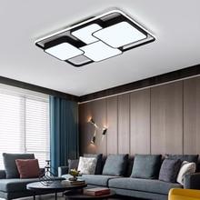 LICAN прямоугольные черные современные светодиодные потолочные лампы для гостиной спальни lampe plafond avize потолочный светильник для домашнего освещения