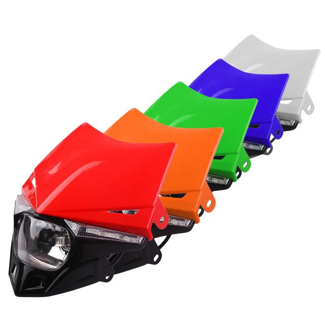 4 cores universal novo veículo off-road modificado acessórios da motocicleta farol da motocicleta levou luz para honda crf