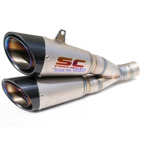 New SC Project Titanium Alloy Motorcycle Exhaust Muffler Pipe For Ducati Diavel Motorbike Muffler Exhaust And