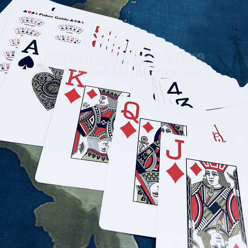 Emas Plastik Bermain Kartu, Kartu Nomor Besar Pokerstars Profesional - Hiburan - Foto 4