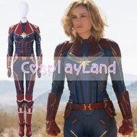 Капитан Марвел Косплэй костюм Кэрол Дэнверс 2019 супергероя костюмы на Хэллоуин мисс Марвел комбинезон Косплэй Кэрол Дэнверс Костюм