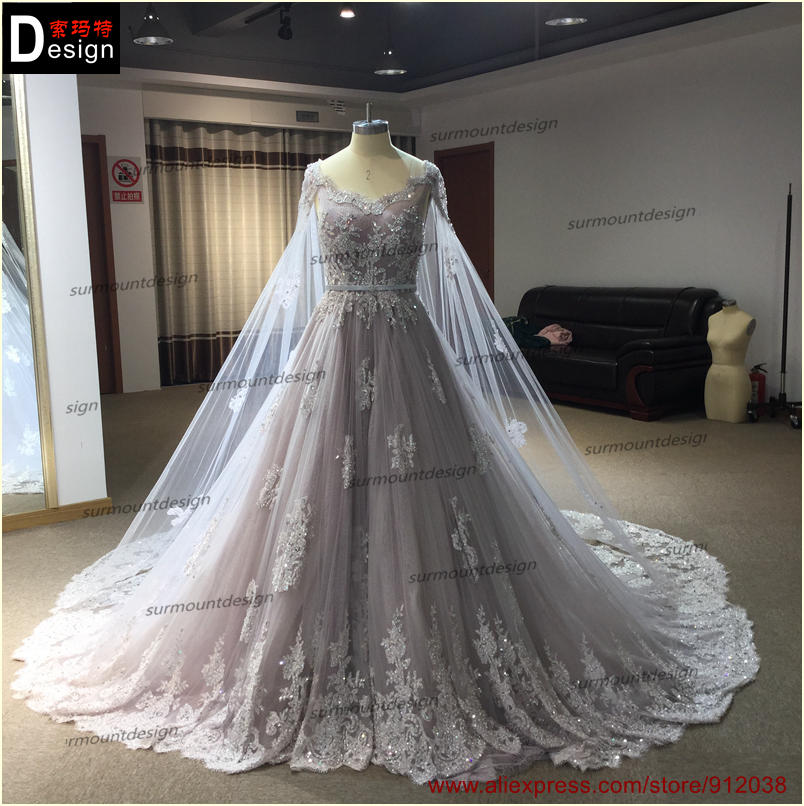 Aliexpress.com : Buy Pleat Bridal Wedding Gown Real Photos ...