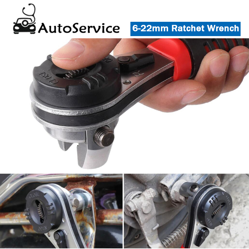 Multitool Key Adjustable Ratchet Spanners 6-22mm Wrenches Universal Wrench Tool For Car Repair Tools Quick Spanner