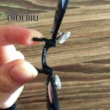 DIDI Small Round Clip On Nose Mini Sunglasses Men Brand Cool Steampunk Sun Glasses Women Vintage Metal Black Coating Gafas H689