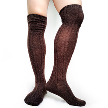 Winter Thick Socks Mens Over Knees Formal Business Stocking Sexy Fashion Male Long Hose Cotton Knitted Man