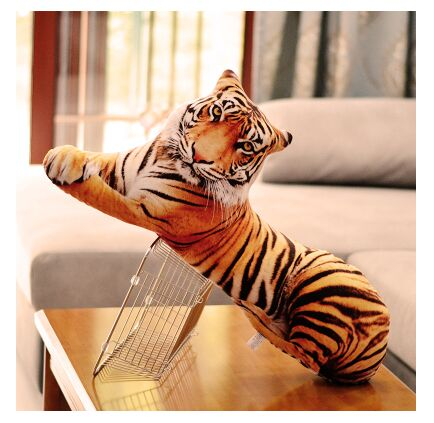 creative new 3D plush tiger toy simulation big tiger pillow gift about 90cm stuffed animal 145cm plush tiger toy about 57 inch simulation tiger doll great gift w014