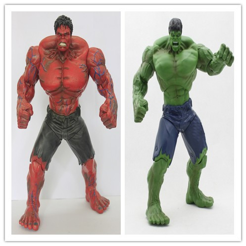 [ Funny] 26cm The Avengers Movie Red/Green Hulk Action Figures toy Movable joints PVC Model Dolls Movable Anime Figure kids gift