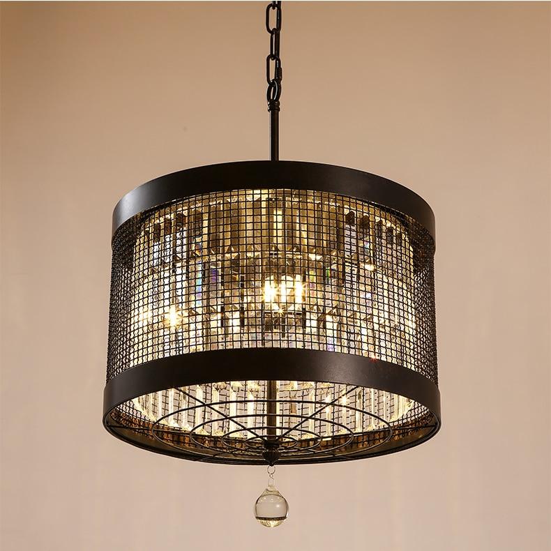American Village Round Crystal Chandeliers Bedroom Cloakroom Hallway light Villa lighting Wedding lamp wl319939
