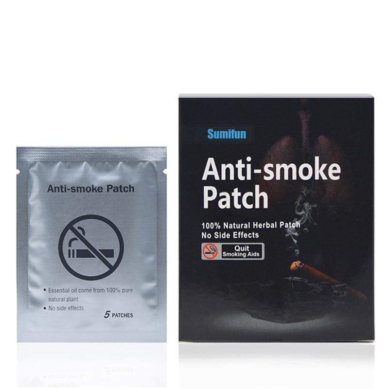 Drop Ship 35 Pcs/lot Anti Smoke Patches Natural Tobacco Extract Smoking Cessation Pad 100% Natural Stop Smoking