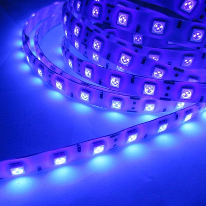 1 M/2 M/3 M/4 M/5 M 3528/5050 Smd Uv Led Streifen Licht Dc12v 395-405nm 60led/m 120led/m Ultra Violet Lila Flexible Band Wasserdicht