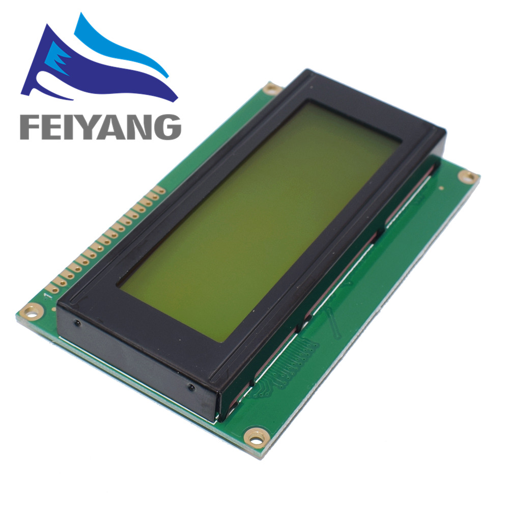 10pcs 20x4 LCD Modules 2004 LCD Module with LED Blue Backlight White Character/Yellow green
