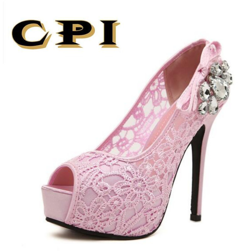 New hauts à maille talons la Chaussures à Thin mode Lace Pumps Chaussures Cpi Sexy nYPxd8HwqY