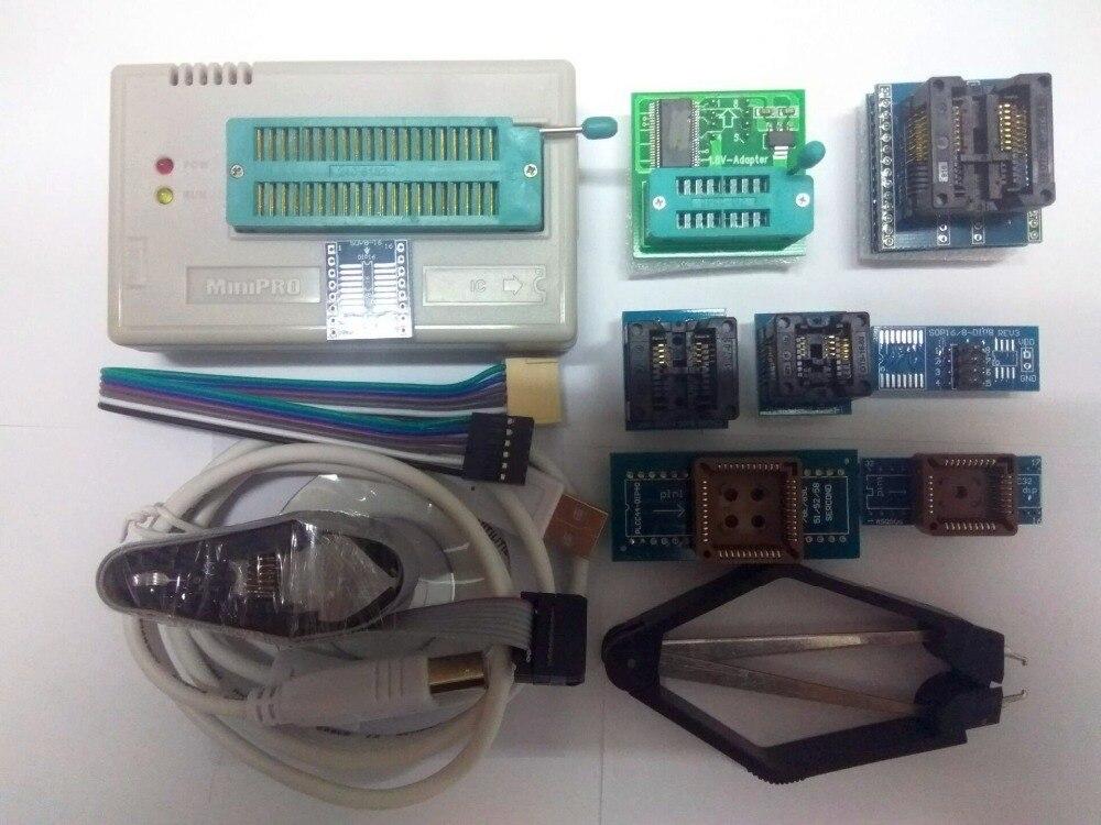 Russian files Free Shipping V6.6 TL866A Programmer USB Universal Programmer /Bios/ECU Programmer+8 pcs items+SOIC8 clip стоимость