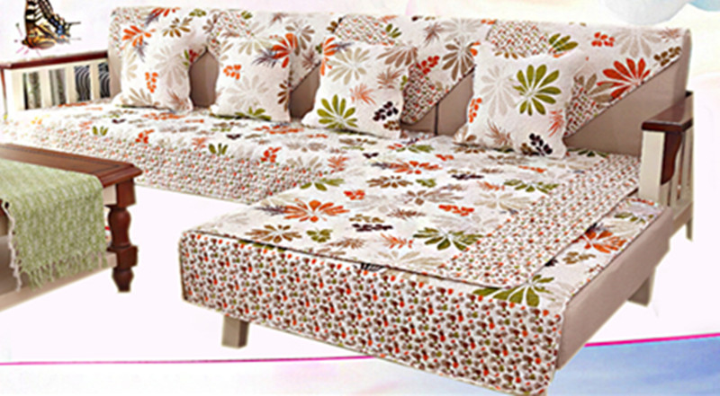 Combination Sofa Cushion, Non-slip Fabric Four Seasons Sofa Cushion, Embroidered Cushion Sofa Towel