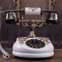 genuine exports of solid wood phone calls to display the antique telephone garden craft European classical telephone