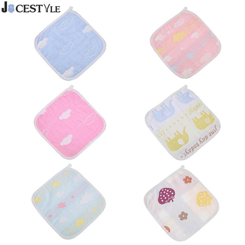 Baby Kids Soft Bath Washing Handkerchief Towels Cartoon Cotton Towel Absorbent Soft Square Multi Colors Washcloth