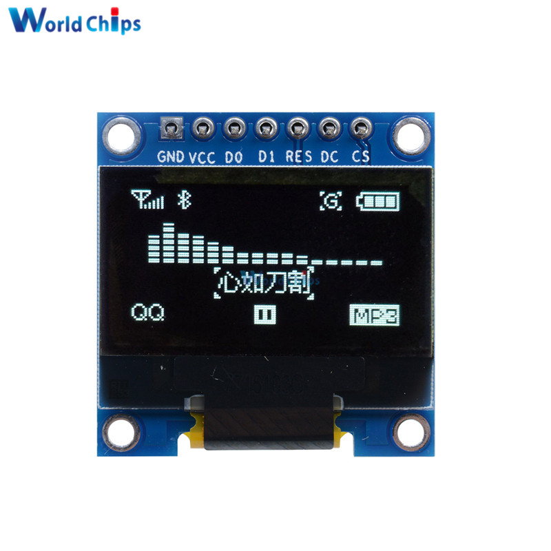 0 96 0 96 Inch 128x64 White Color Oled Display Module For Arduino