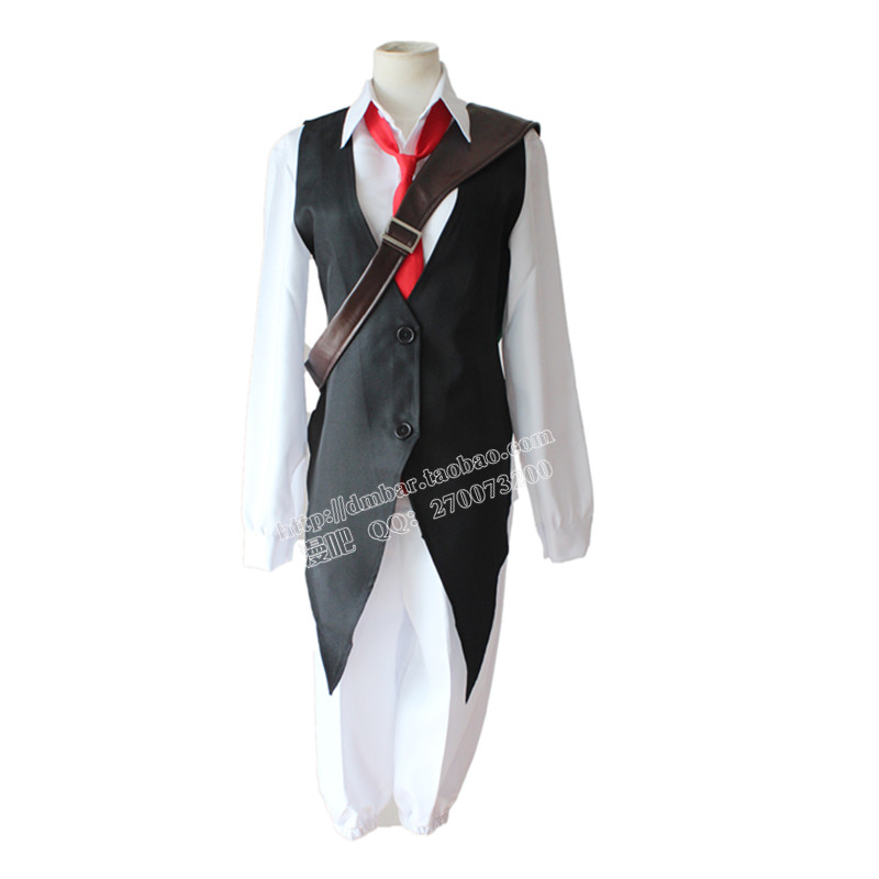 Dragon's Sin of Wrath cosplay costumes Japanese anime The Seven Deadly Sins clothing(vest+shirt+pants+necktie+backpack)