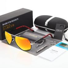 38da68db5 BARCUR Homens Dos Óculos De Sol 2018 Marca Original HD Polarizada Motorista óculos  de sol óculos Polaroid Óculos de Sol Masculin.