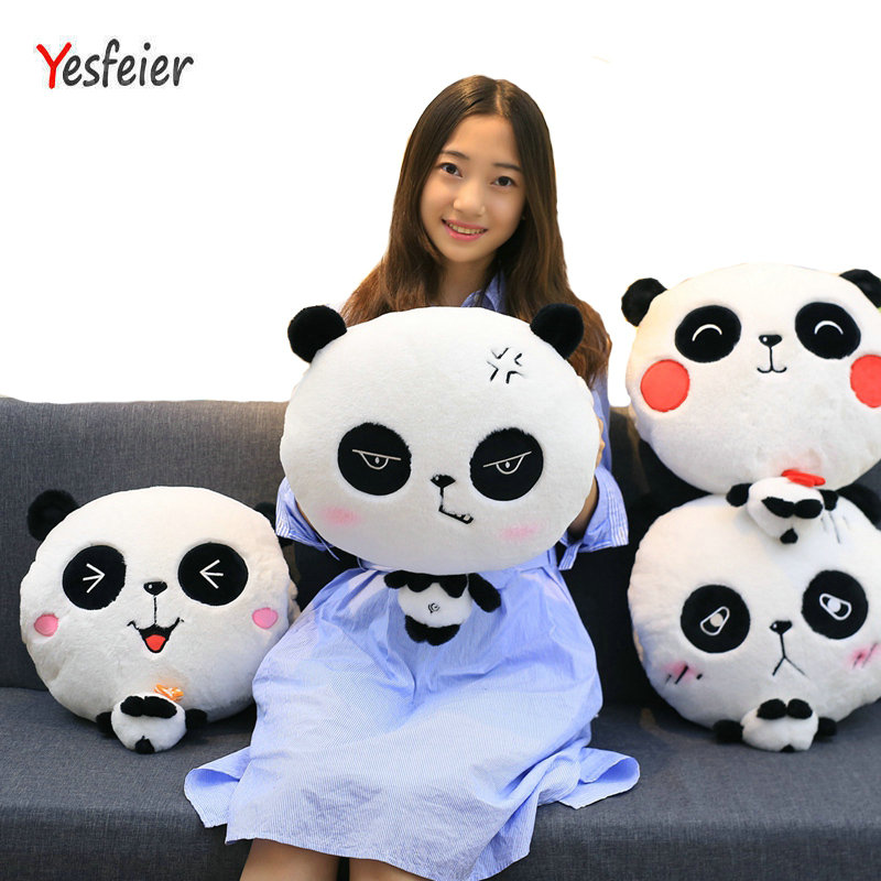 Drop shipping Cartoon Panda hand warm Plush blanket baby panda plush toys stuffed animals Soft at home decorate pillow Cushion soft winter hand warmer plush style plush hand warmer plush pillow hand cushion toys for child christmas gift a6