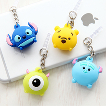 Cute cartoon mobile phone dust plug For iphone 5 6 6s plus 3
