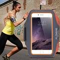 Floveme gym sports case para iphone 6 6 s plus 5S 4S para samsung galaxy s7 s6 s5 s4 j5 da parte dianteira do toque ciclismo arm band tampa do telefone