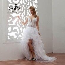 Wedding Dress 2016 SoDigne Newest Coming Lace Applique Spaghetti Straps Beaded Vestido De Noiva See Through Bridal Gown